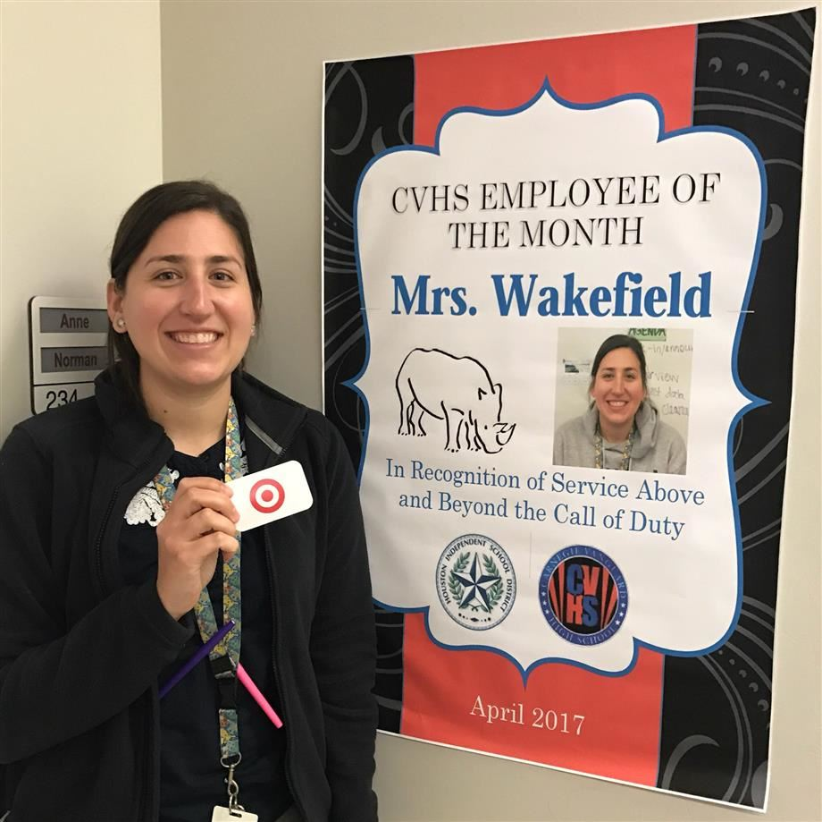 carnegie vanguard high school homepage cvhs employee of the month anne marie wakefield