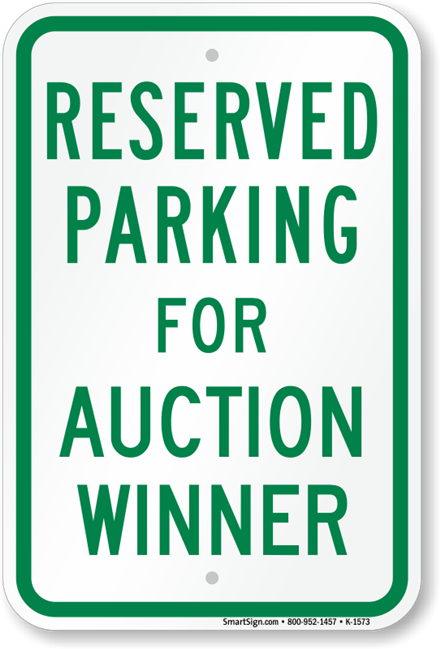Reserved Parking Space Auction for 2019-2020 School Year