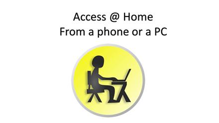 Access to The Hub @ Home from a Phone or a PC