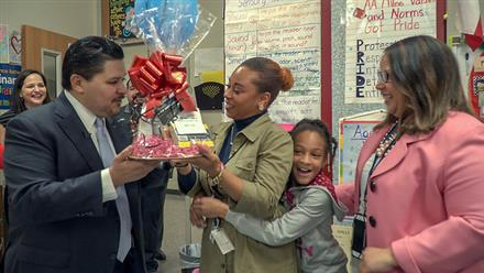 HISD Teacher of the month for February 2018