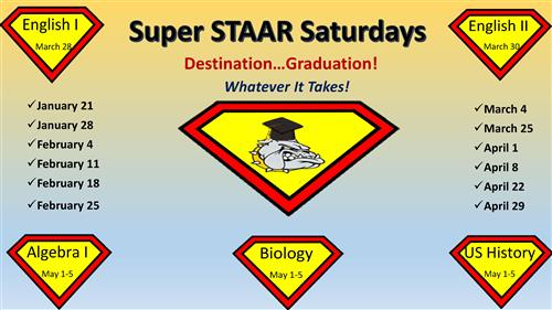 Super STAAR Saturday School Schedule