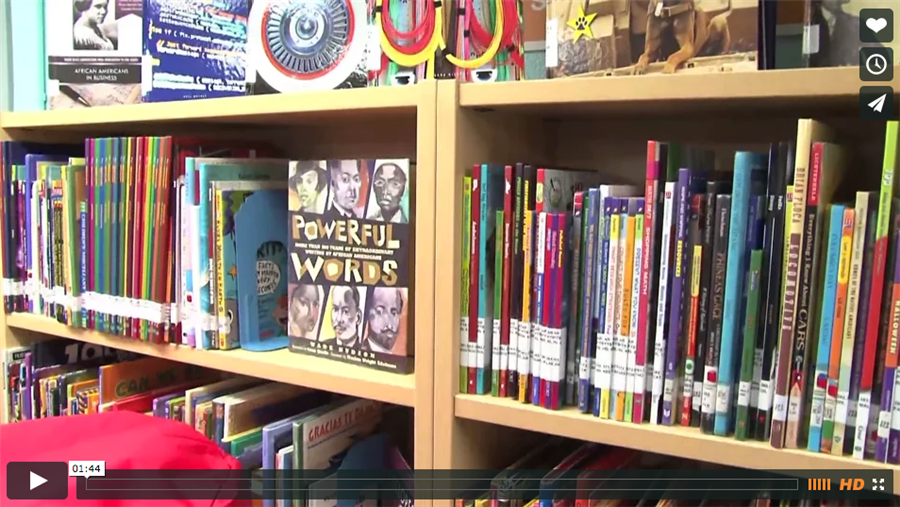 Benbrook Elementary Library Receives Makeover