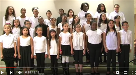 HISD Fine Arts Performance - Garden Villas ES Choir