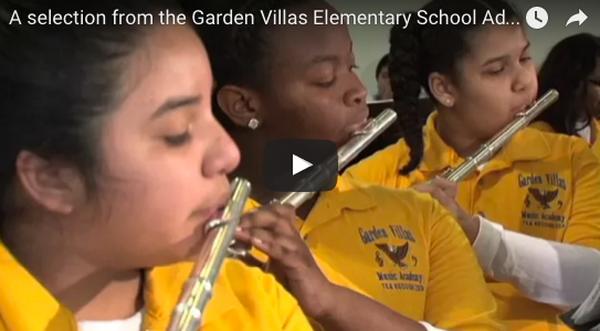 A selection from the Garden Villas Elementary School Advanced Band Fine Arts Friday performance