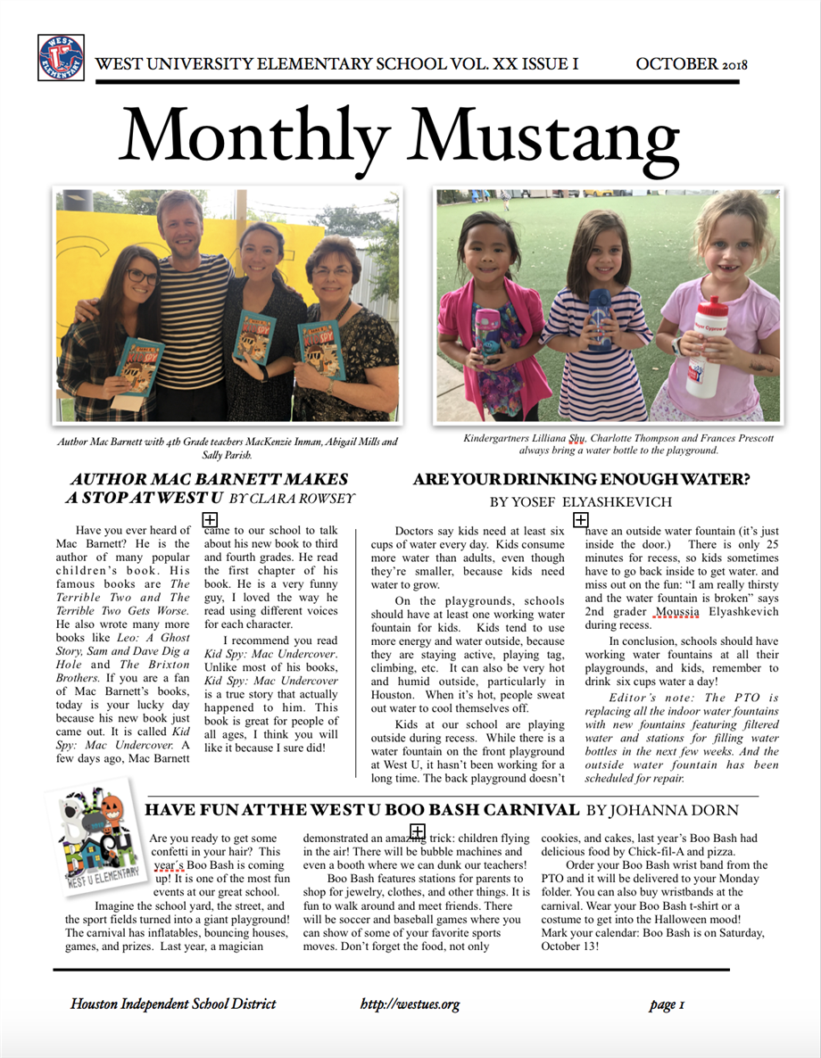 Monthly Mustang -download the latest Issue in Color!