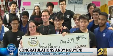Congratulations to Westside senior Andy Nguyen, KPRC Senior Scholarship Winner!