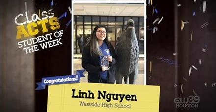 Senior Linh Nguyen was featured on CW 39 this morning!