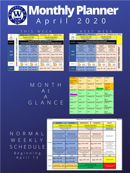 Monthly Planner April 2020