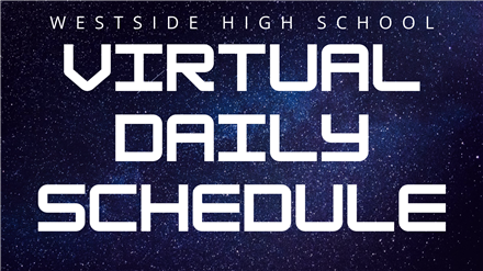 Daily Virtual Schedule with Rotation Friday A/B Calendar: Semester 2