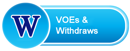 Withdraws, VOE Requests and Address Changes