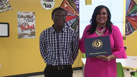 Student scores 100 percent on math section of STAAR test