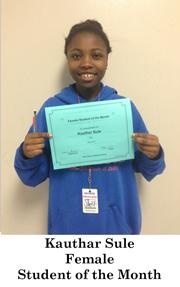 May Female Student of the Month