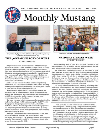 Monthly Mustang Application