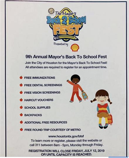 The Mayor's Back 2 School Fest
