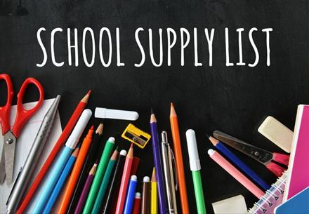 2019-2020 School Supply Lists PK-5th