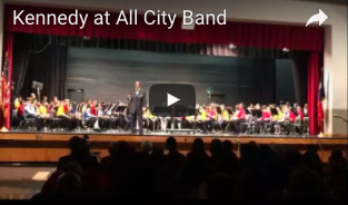 Kennedy At All-City Band