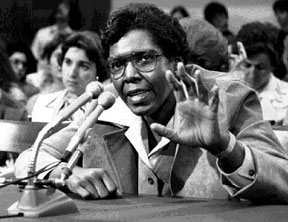 Barbara Jordan as a member of the House Judiciary Committee at the 1974 Watergate hearings