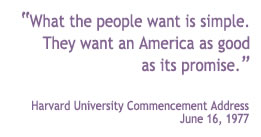 Barbara Jordan 1977 Harvard University Commencement Address