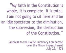 Barbara Jordan Address to the House Judiciary Committee over the Nixon Impeachment