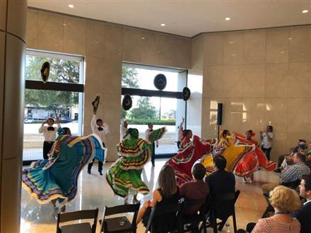 Las Aguilas de Oro Perform at AIG