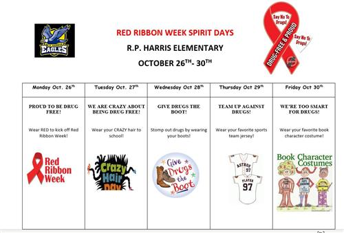 Red Ribbon Week Oct. 26th - 30th