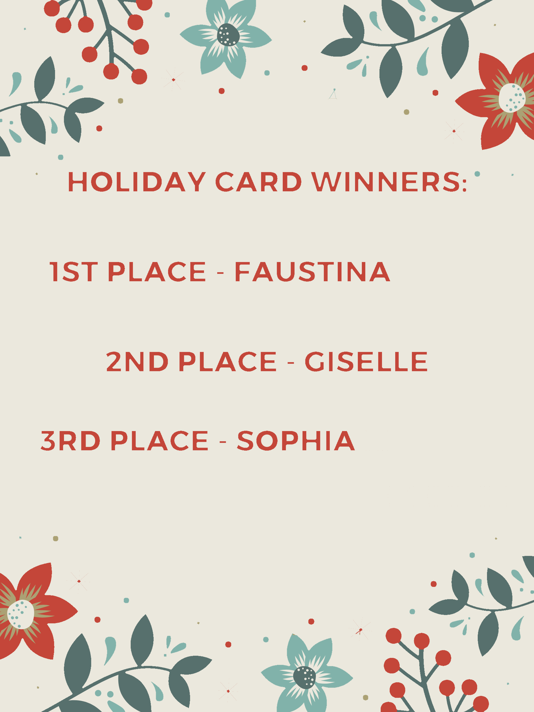 Holiday Card Winners