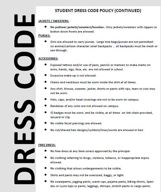 Business dress code memo - Term paper Example