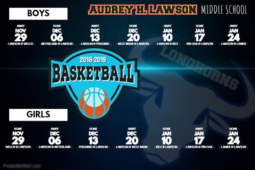 Basketball Schedule 2018-2019