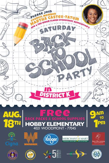 Back to School Party in District K