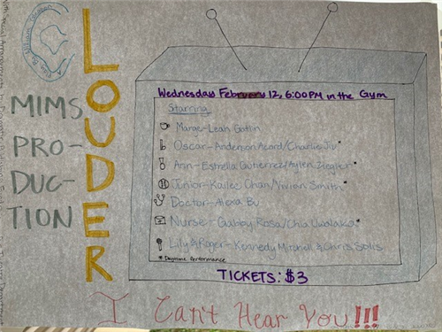 hand-drawn Louder, I Can't Hear You poster