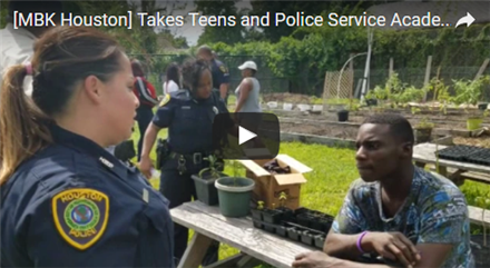 [MBK Houston] Takes Teens and Police Service Academy to Whealtey High School