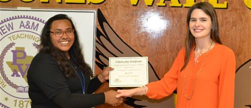Text Free Texas Scholarship Recipient