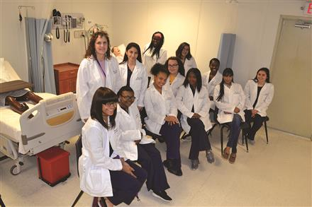 Health Science students receive their white coats