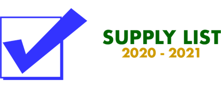 In-Person Supply List 2020-2021