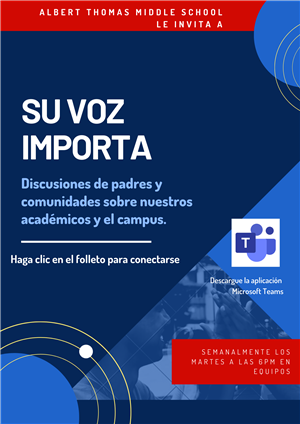 Your Voice Matters Meeting- Spanish Flyer