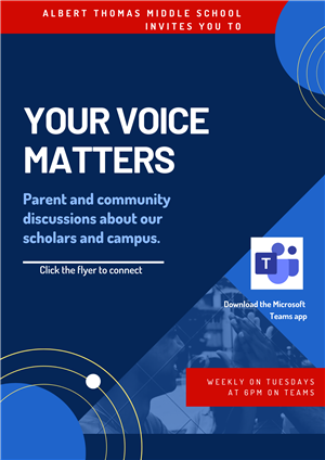 Your Voice Matters Meeting Flyer