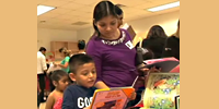 Books Between Kids donate books at Mistral ECC