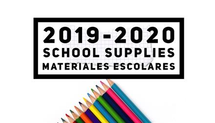 School Supplies/ Materiales escolares