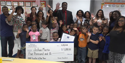 First-Year Teacher Wins $5,000