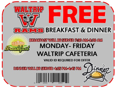Free Breakfast and Dinner M-F