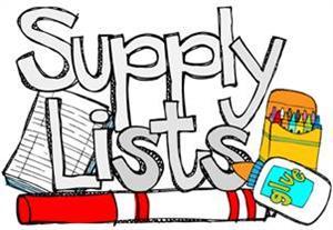 school supplies list template
