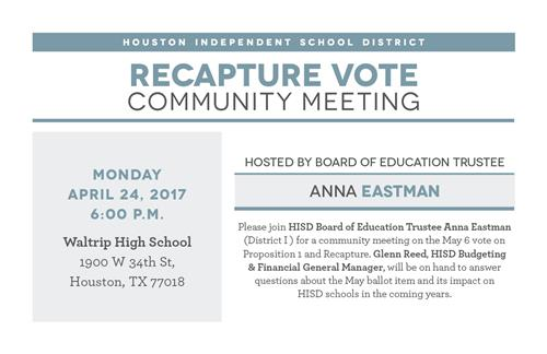 Recapture Vote Community Meeting