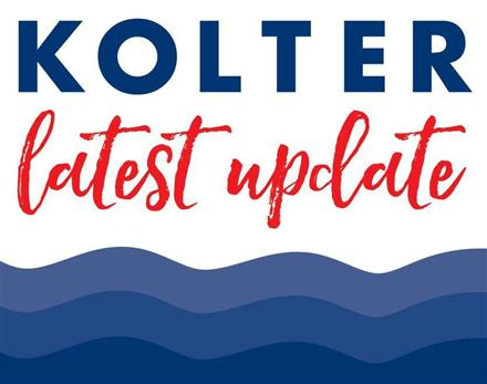 "Photo of text, ""Kolter's Latest Update"""
