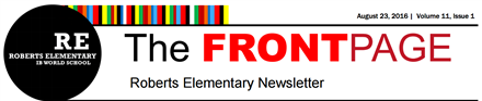 Front Page School Newsletter