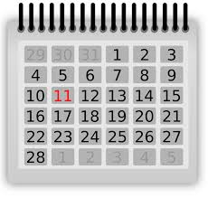 Image of Calendar Clipart