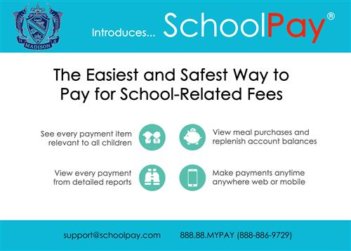 SchooPay Front Page