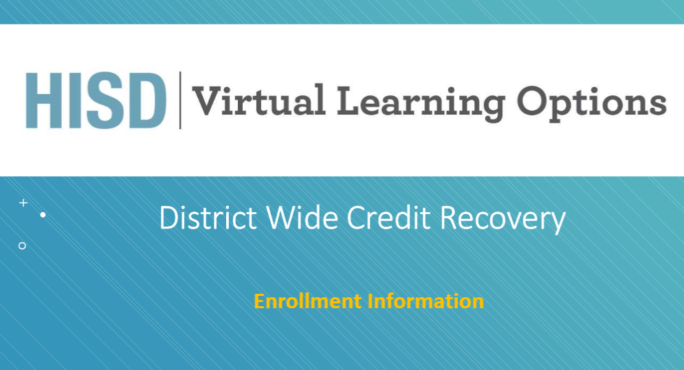 Virtual School Credit Recovery Option