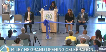 Milby HS Ribbon Cutting Ceremony