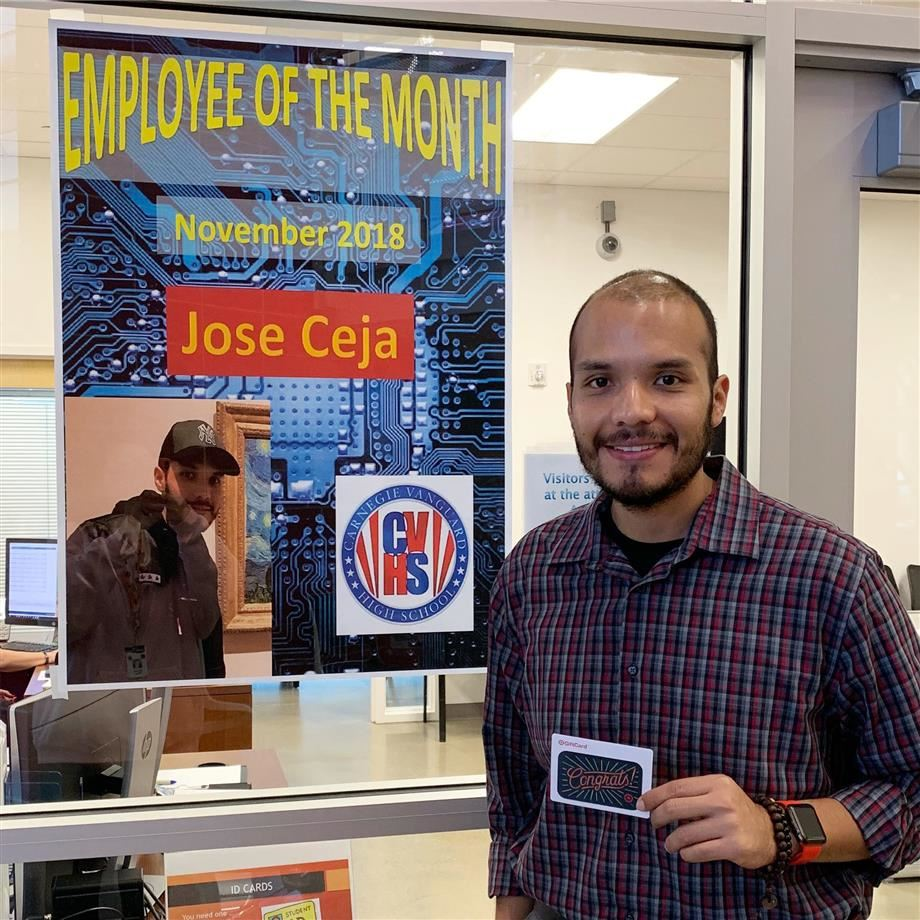 CVHS Employee of the Month: Jose Ceja