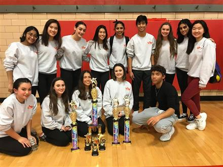 Dance Team Wins at February Competition!